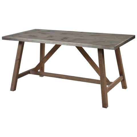 Perot Dining Table in Natural Wood and Concrete