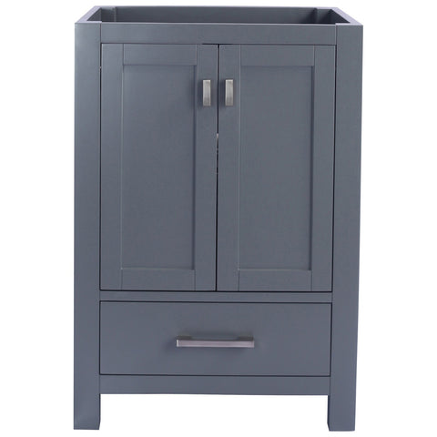 "Grey or White 24"", 30"", or 36"" Single Vanity Base - Wilson Collection"