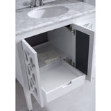 "Grey or White 36"" Single Vanity Base - Mediterraneo Collection"