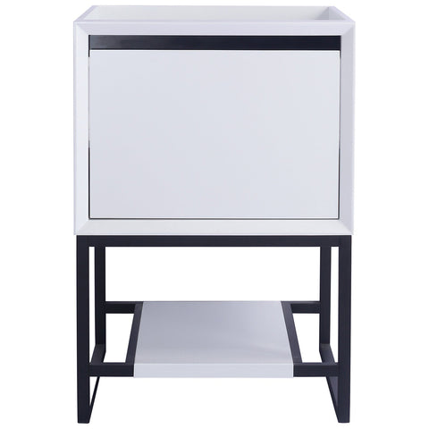 "White 24"" or 30"" Single Vanity Base - Alto Series"