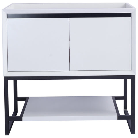 "White 36"" Single Vanity Base - Alto Series"