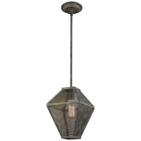 Salisbury 1-Light Pendant in Malted Rust with Metal Mesh
