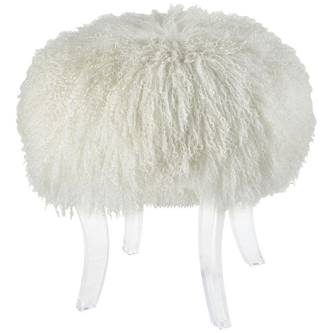 Hair Apparent Stool in White