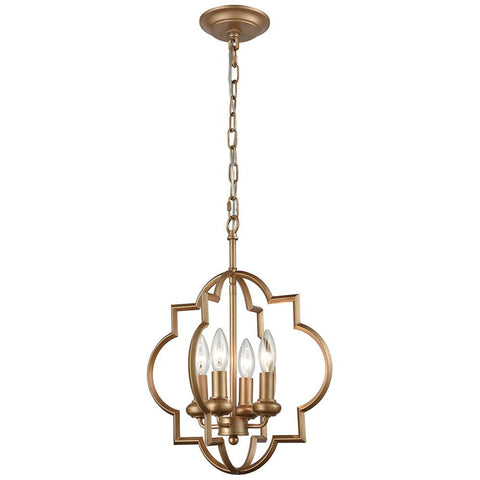 Chandette 4-Light Chandelier in Matte Gold