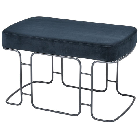 Interlinked Double Bench in Deep Navy and Grey