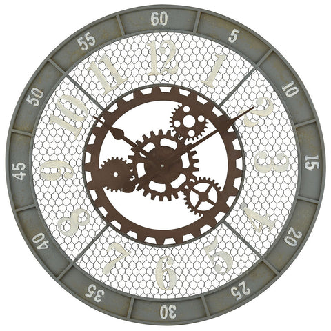Roadshow Wall Clock in Greenpoint Grey