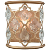 Armand 1-Light Wall Sconce in Matte Gold With Clear Crystal