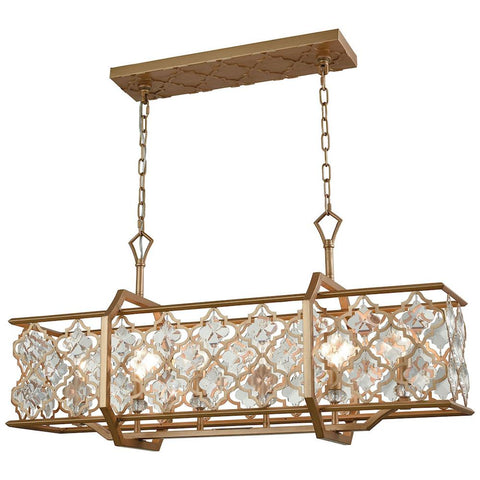 Armand 6-Light Matte Gold Chandelier With Clear Crystal