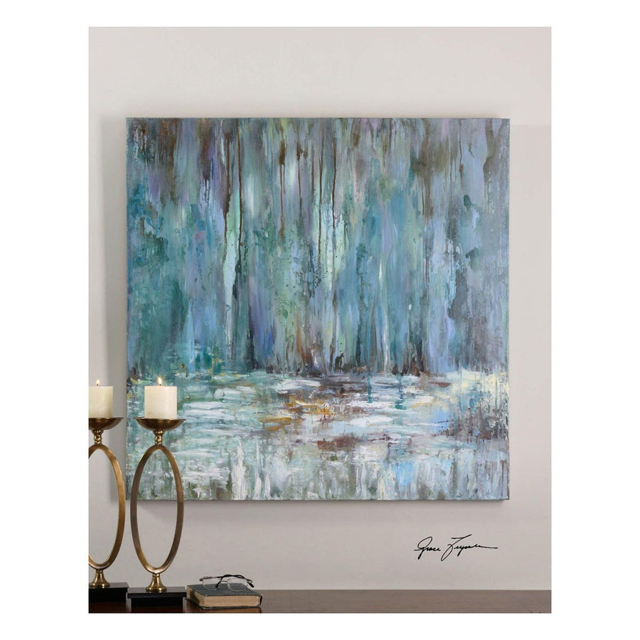 Blue Waterfall Art