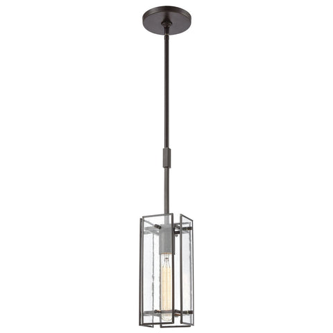 Hyde Park 1-Light Mini Pendant with Seedy Glass