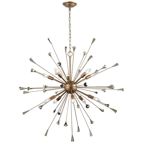 Sprigny 10-Light Chandelier with Crystal