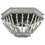 Summerton 3-Light Flush Mount in Washed Gray and Malted Rust