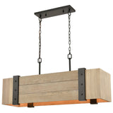 Wooden Crate 5-Light Island Light in Oil Rubbed Bronze