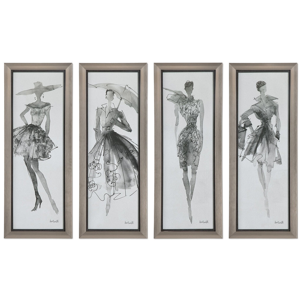 Fashion Sketchbook Art, Set of 4