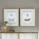 Gilded Bath Prints Set of 2