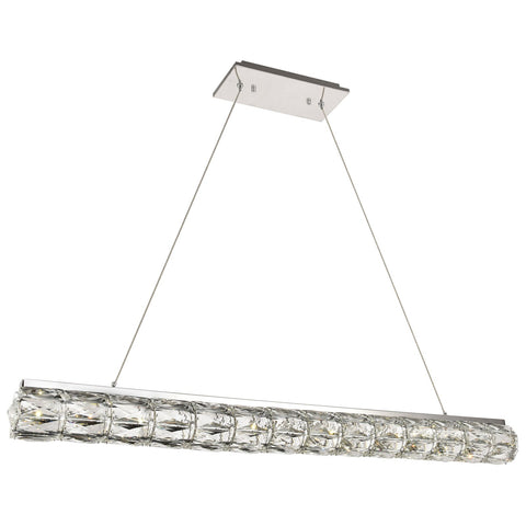 Valetta Integrated LED 42-Inch Chrome Chandelier with Clear Royal Cut Crystal