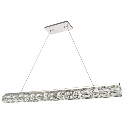 Valetta Integrated LED 48-Inch Chrome Chandelier with Clear Royal Cut Crystal