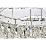 Monroe Integrated LED Chip-Light 3-Tier Chrome Chandelier with Royal Cut