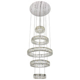 Monroe Integrated LED Chip-Light 5-Tier Chrome Chandelier with Royal Cut