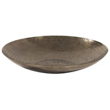 Deep Bronze Aluminum Tray with Chisel Texture, Large