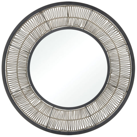 Recalibrate Mirror in Grey Rattan and Black