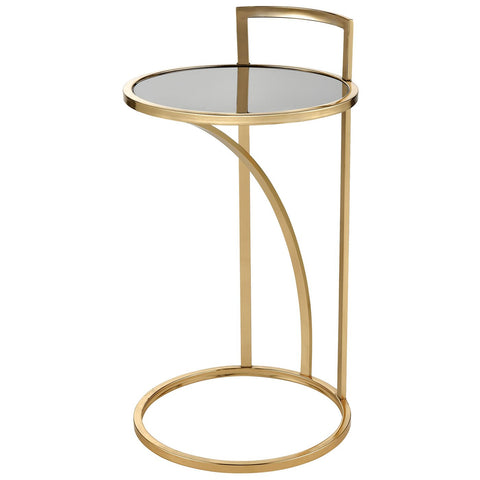 Kingsroad Accent Table in Gold and Black - Round