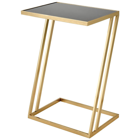 Kingsroad Accent Table in Gold and Black - Rectangular