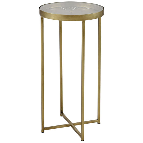 Elix Accent Table in Gold