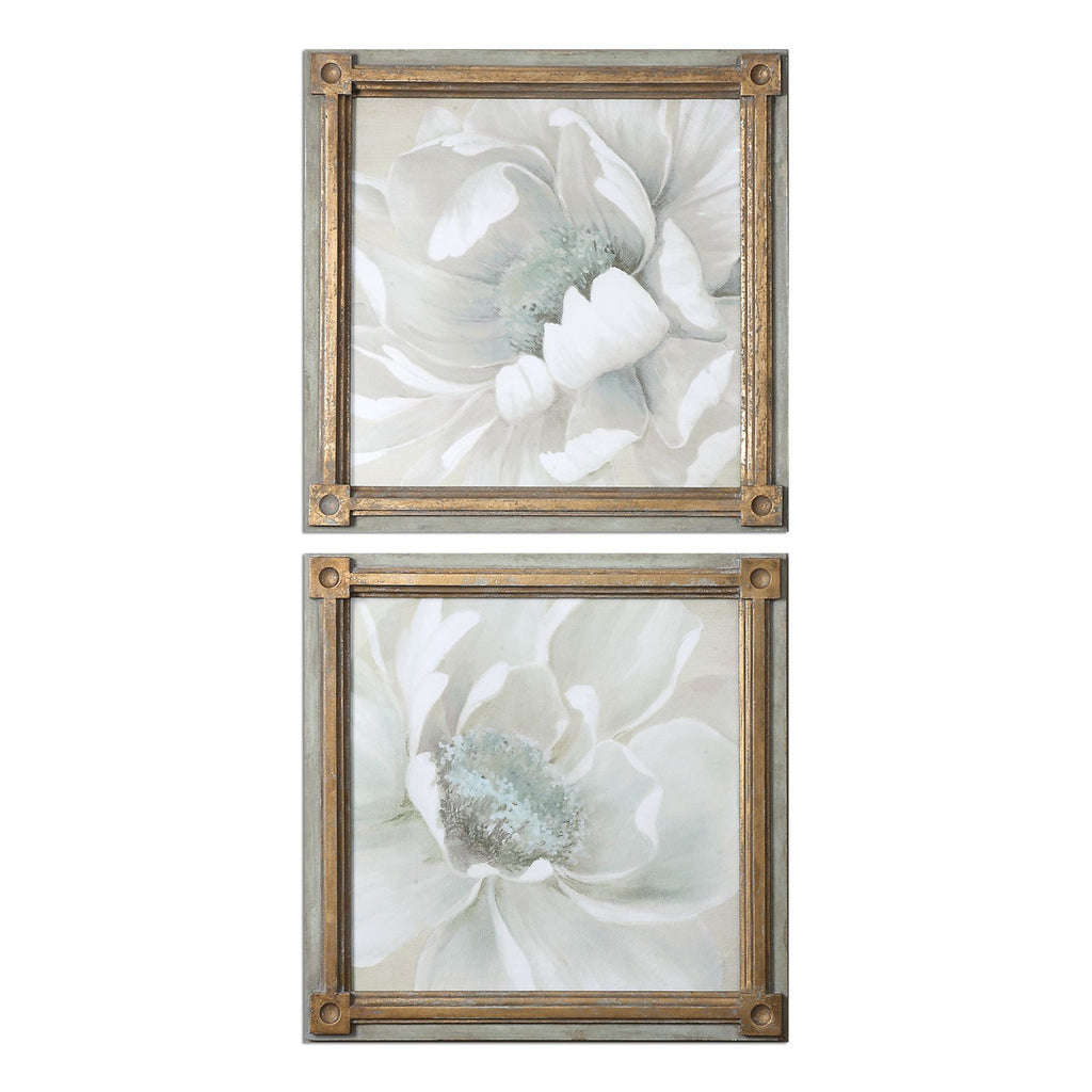 Winter Blooms Floral Art, Set of 2