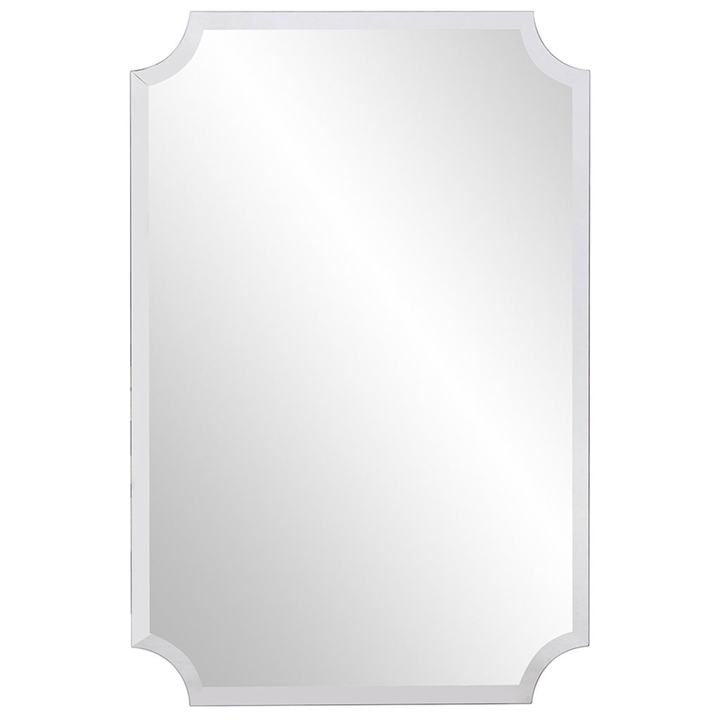 Rectangle Scalloped Frameless Mirror