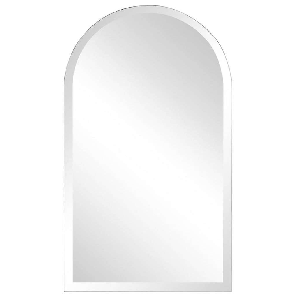 Frameless Arched Mirror in Clear