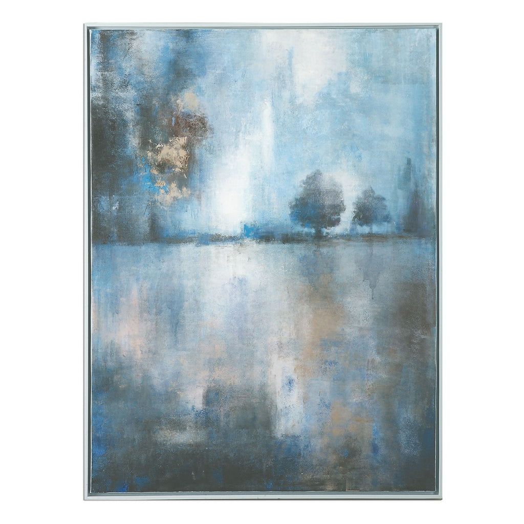 Lake At Dusk Hand Painted Art