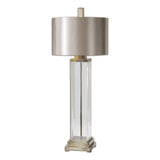 Drustan Clear Glass Table Lamp