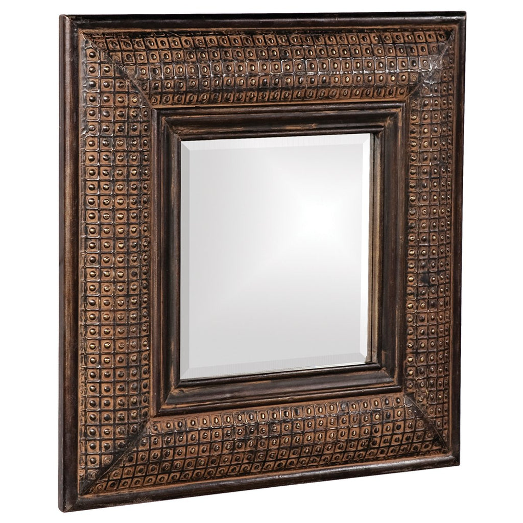 Grant Antique Brown Square Mirror