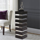Stepped Black Wood Pedestal