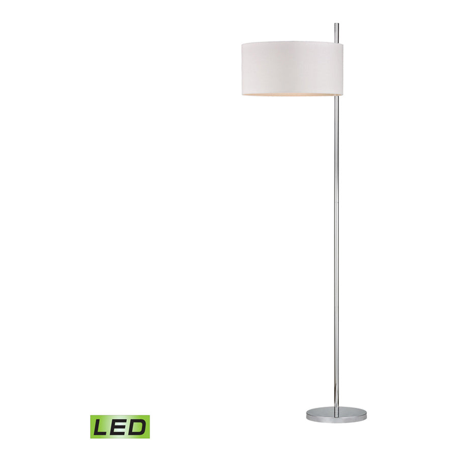 Attwood 1-Light Polished Nickel Floor Lamp