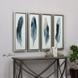 Feathered Beauty Prints, Set of 4