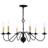 Heritage 6-Light Black Chandelier