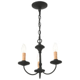 Heritage 3-Light Black Mini Chandelier