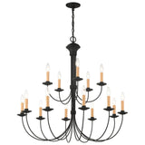 Heritage 15-Light Black Chandelier