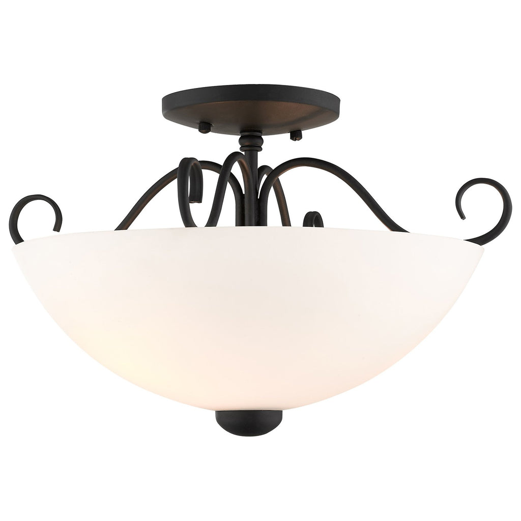 Heritage 2-Light Black Ceiling Mount