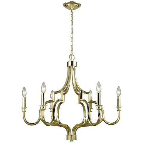 Livonia 6-Light Chandelier in Polished Gold