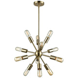 Delphine 12-Light Chandelier in Satin Brass