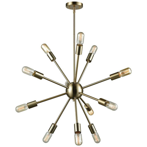 Delphine 12-Light Satin Brass Chandelier