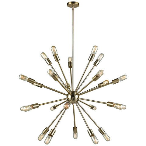 Delphine 24-Light Chandelier in Satin Brass