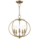 Milania 5-Light Convertible Chain Hang/Ceiling Mount