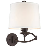 1-Light Bronze Swing Arm Wall Lamp