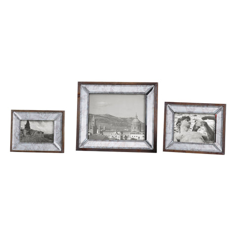 Daria Antique Mirror Photo Frames, Set of 3
