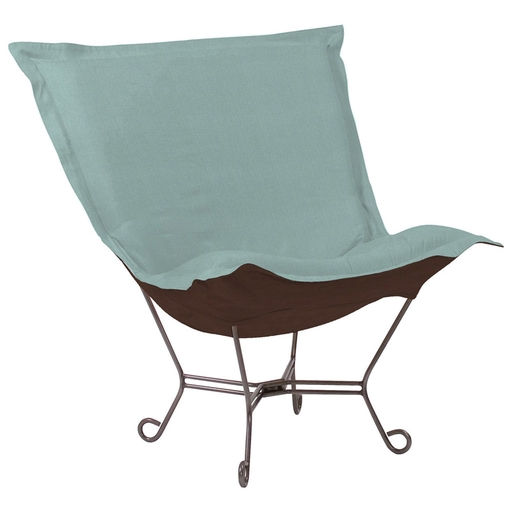 Sterling Breeze Scroll Puff Chair - Titanium Frame
