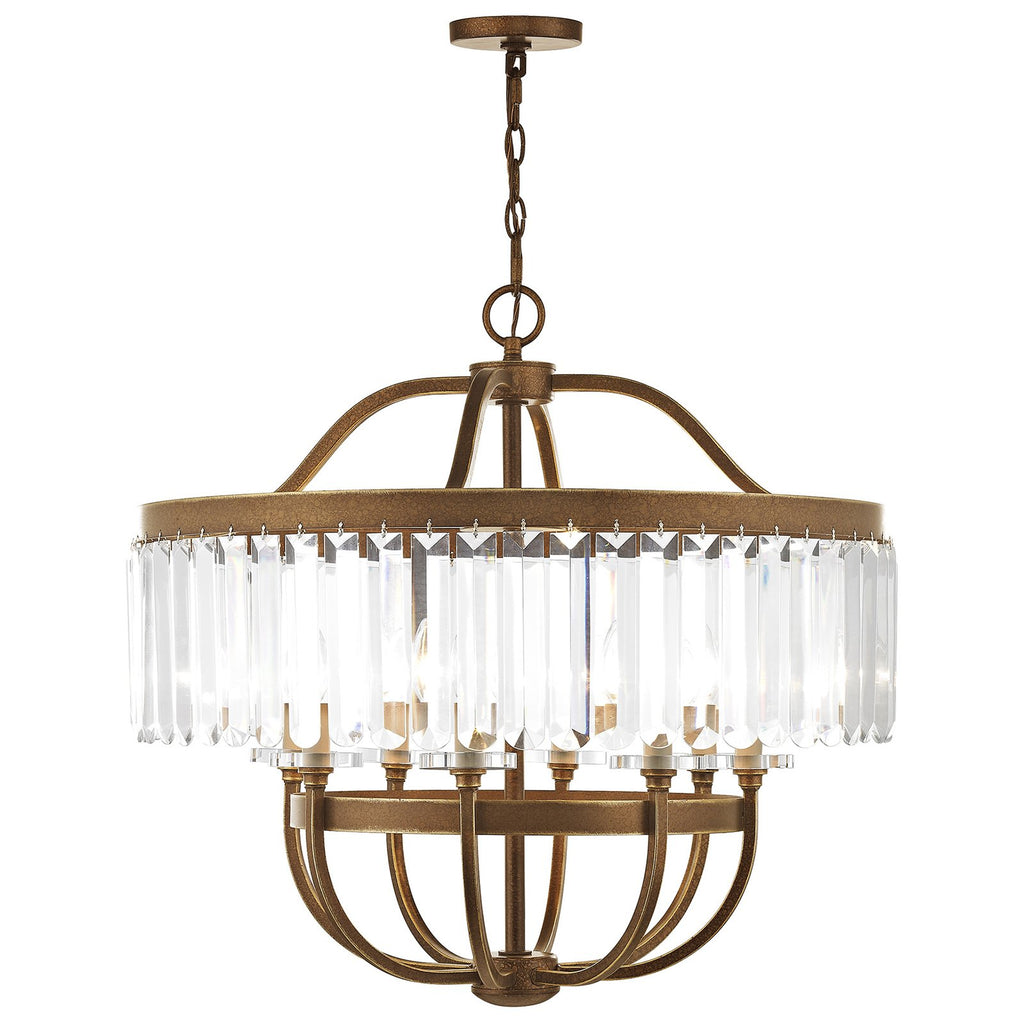 Ashton 8-Light Hand Painted Palacial Bronze Chandelier